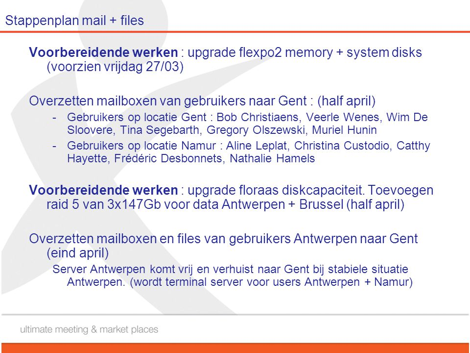 Stappenplan mail + files