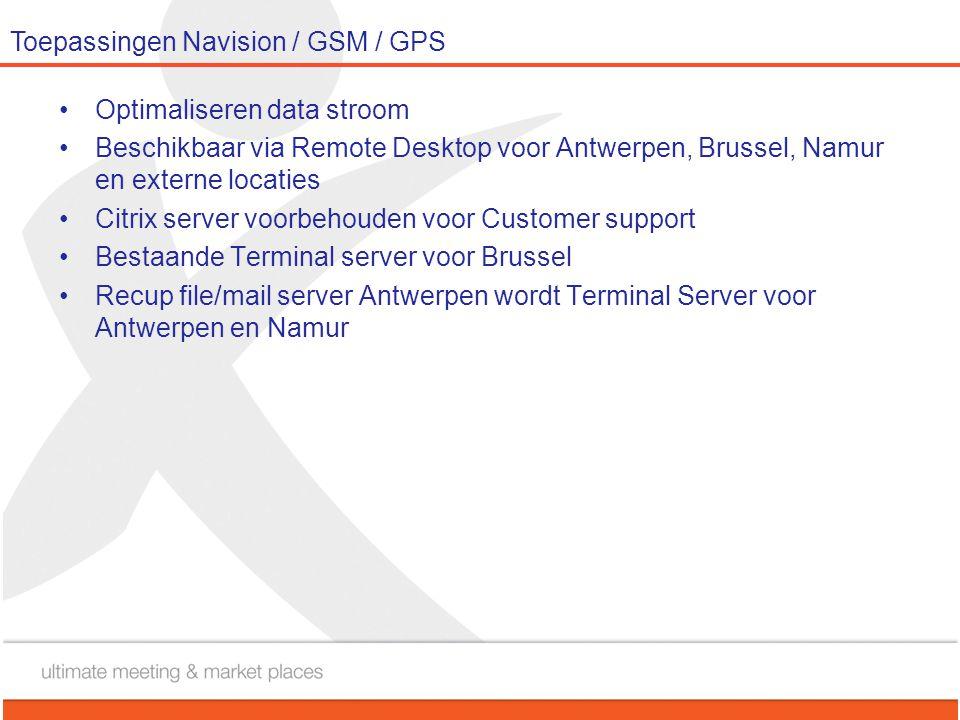 Toepassingen Navision / GSM / GPS