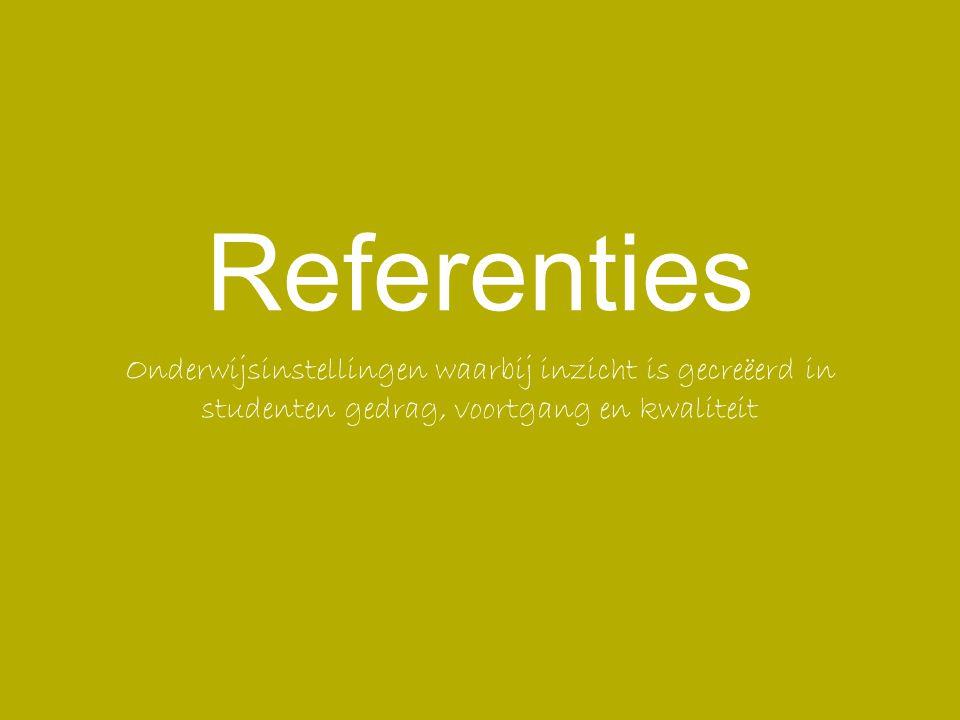 Referenties Onderwijsinstellingen waarbij inzicht is gecreëerd in studenten gedrag, voortgang en kwaliteit.