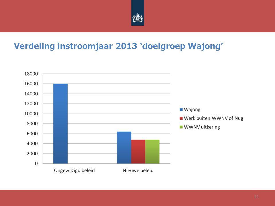 Verdeling instroomjaar 2013 'doelgroep Wajong'