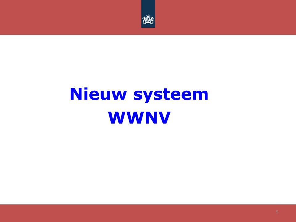 Nieuw systeem WWNV
