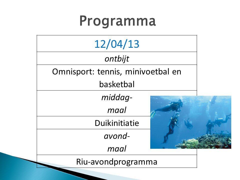 Omnisport: tennis, minivoetbal en basketbal