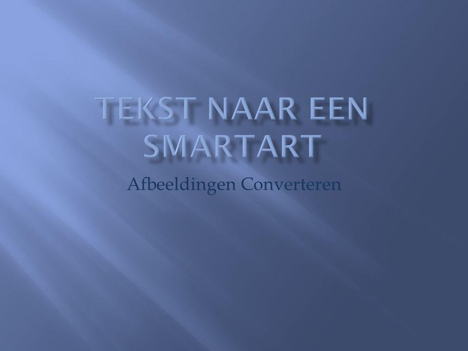 Tekst naar een SmartArt