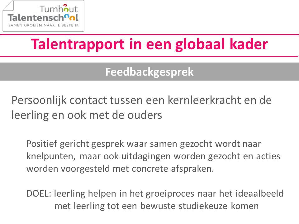 Talentrapport in een globaal kader
