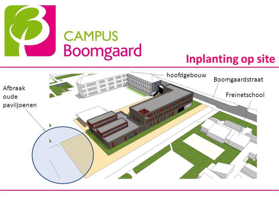 Inplanting op site hoofdgebouw Boomgaardstraat