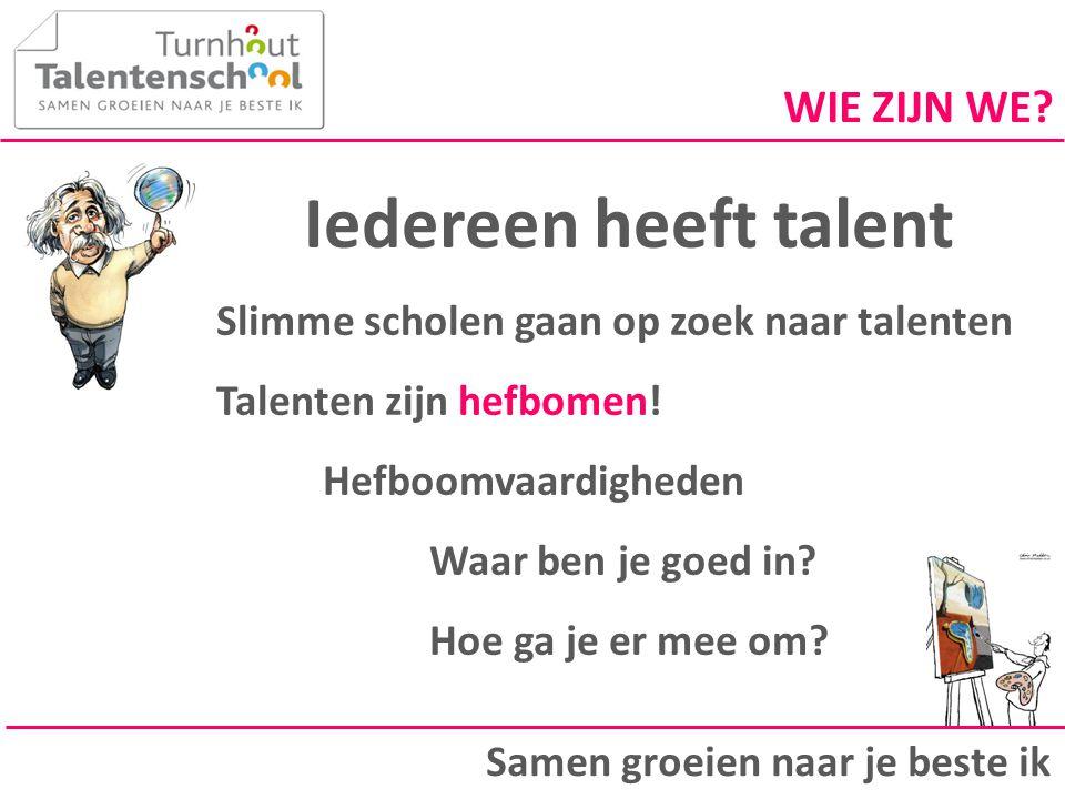 Iedereen heeft talent WIE ZIJN WE