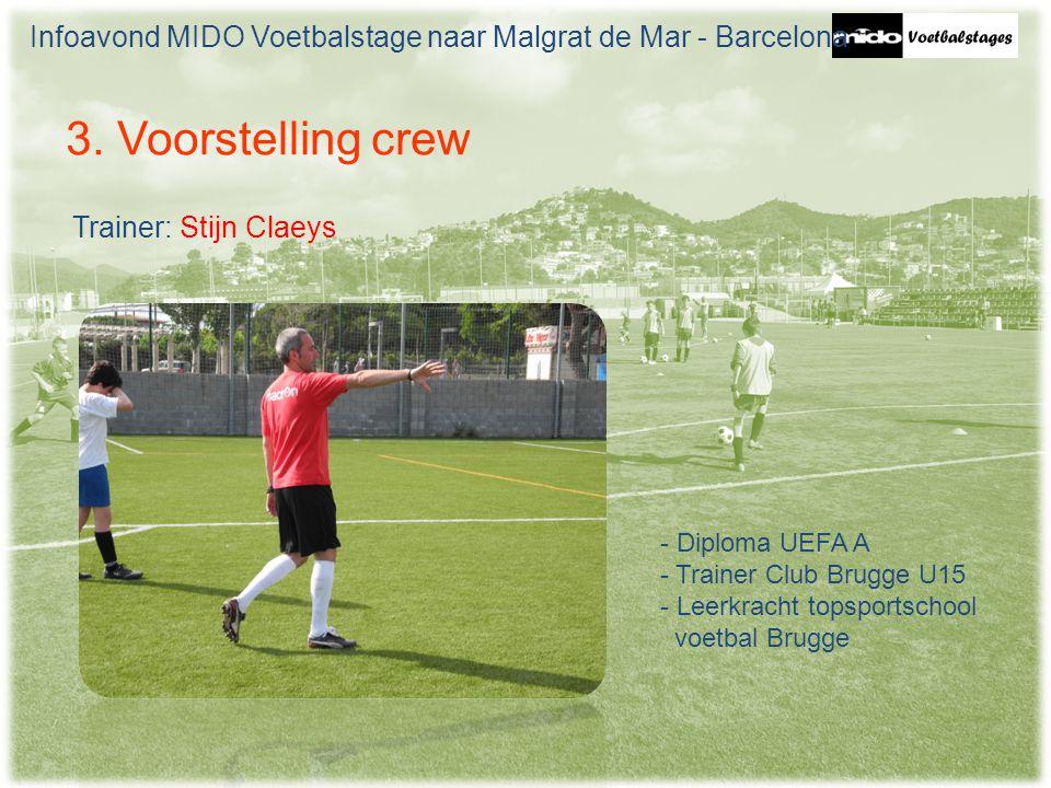 Infoavond MIDO Voetbalstage naar Malgrat de Mar - Barcelona