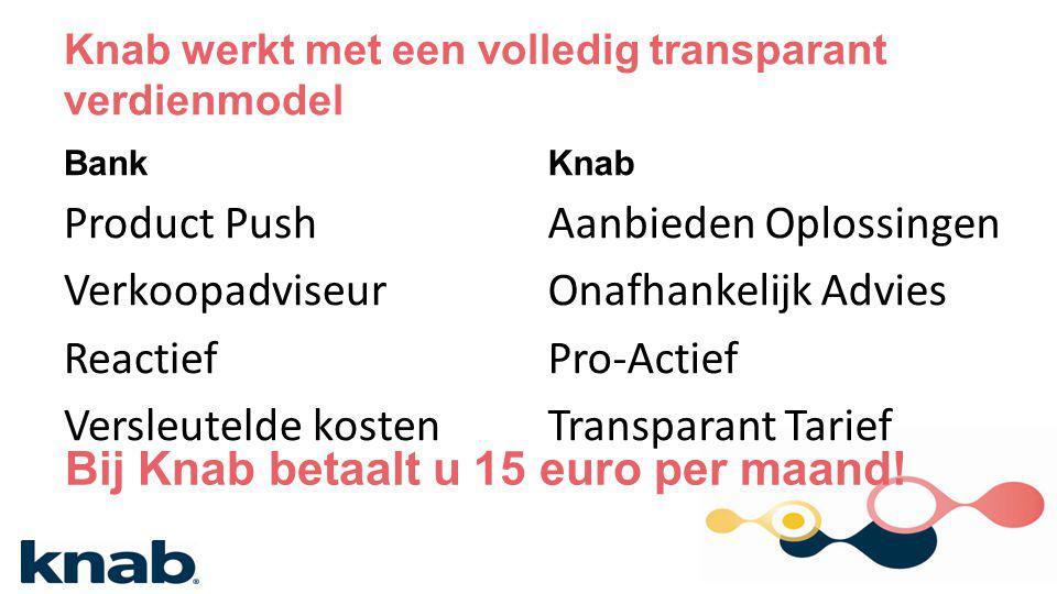 Knab werkt met een volledig transparant verdienmodel