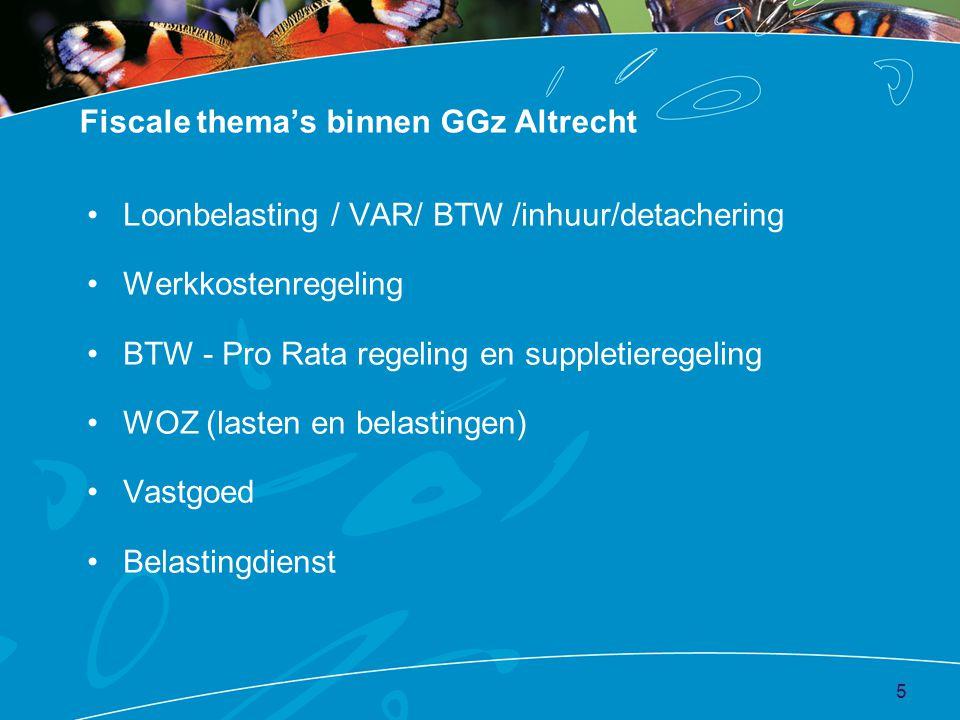Fiscale thema's binnen GGz Altrecht