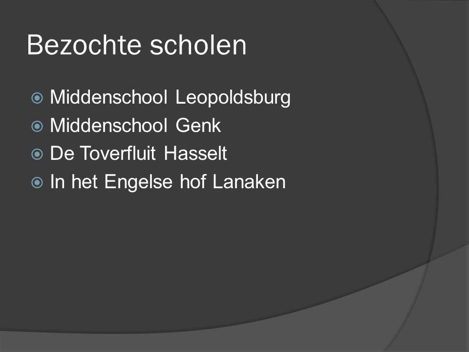 Bezochte scholen Middenschool Leopoldsburg Middenschool Genk