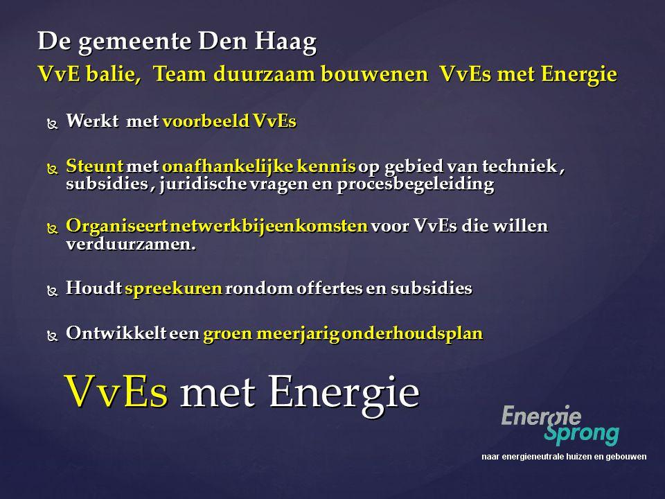 VvEs met Energie De gemeente Den Haag