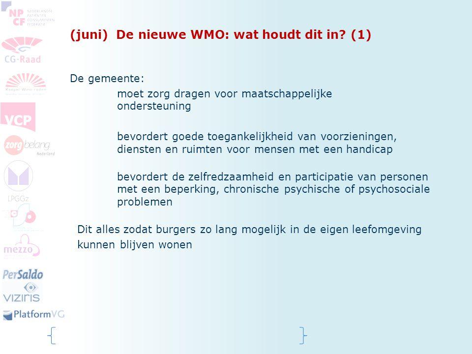 (juni) De nieuwe WMO: wat houdt dit in (1)