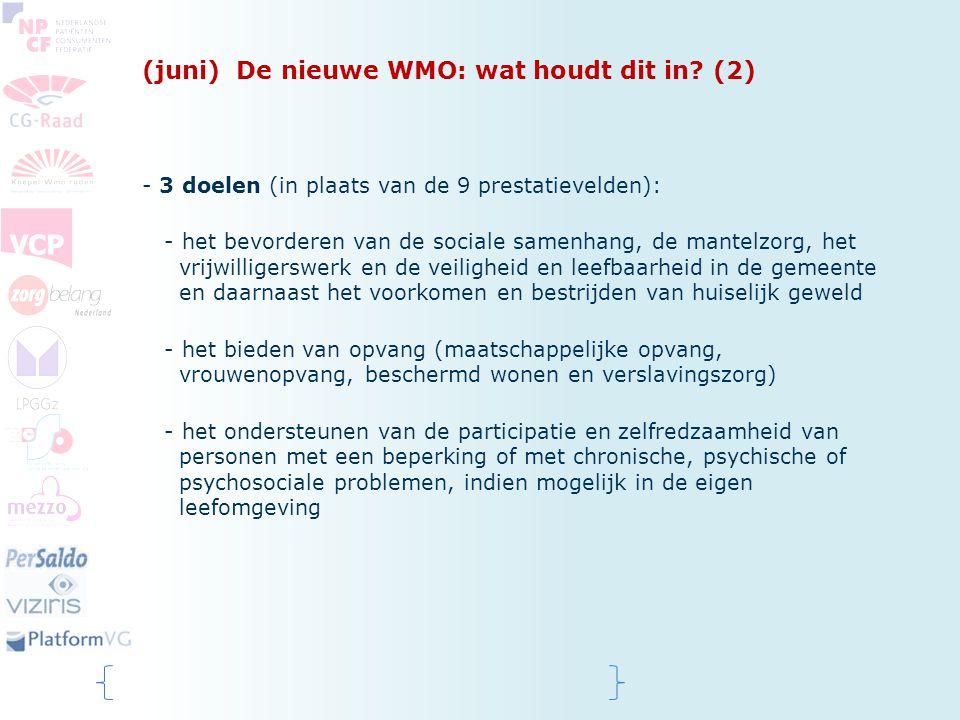 (juni) De nieuwe WMO: wat houdt dit in (2)