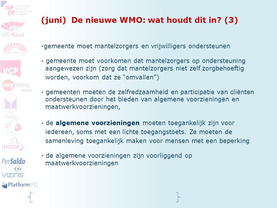 (juni) De nieuwe WMO: wat houdt dit in (3)