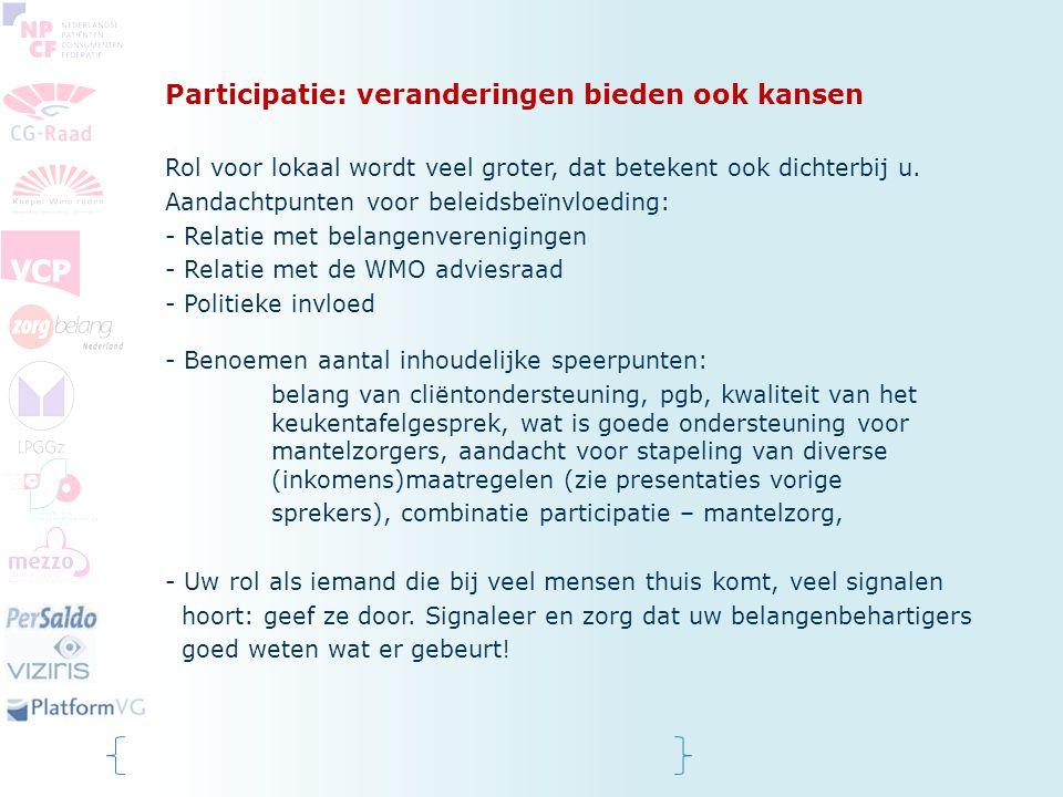 Participatie: veranderingen bieden ook kansen