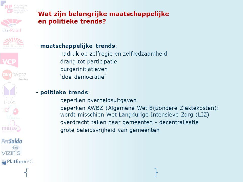 Wat zijn belangrijke maatschappelijke en politieke trends