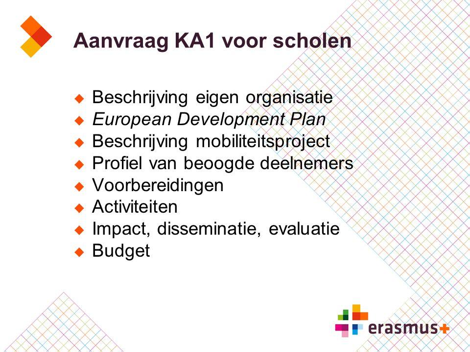Aanvraag KA1 voor scholen