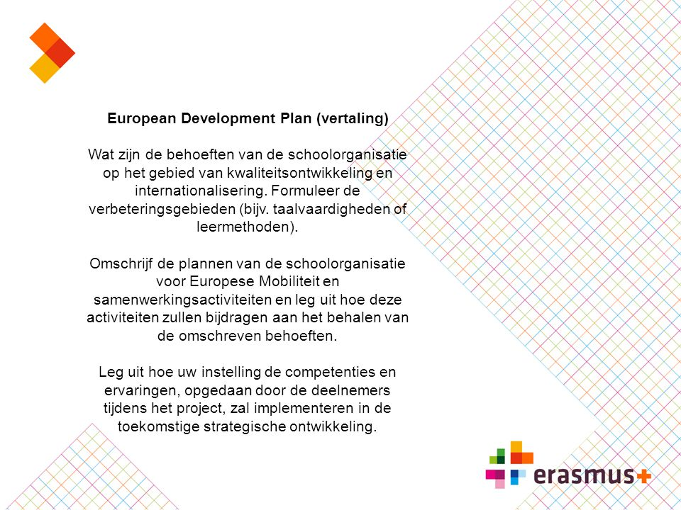 European Development Plan (vertaling)