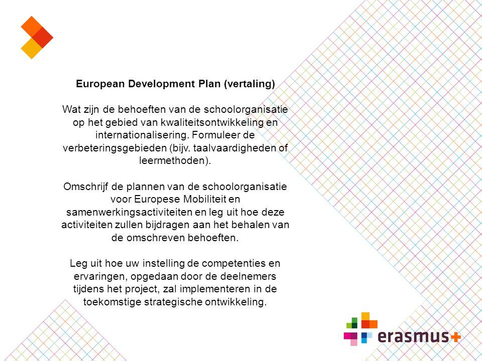 European Development Plan (vertaling)