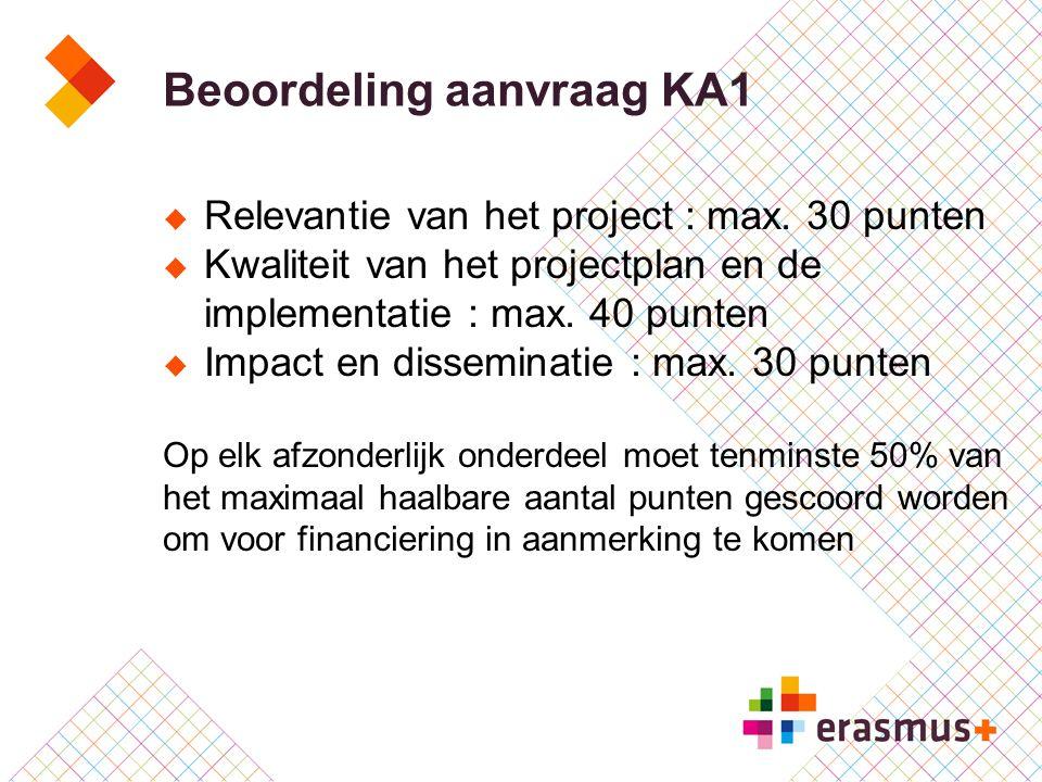 Beoordeling aanvraag KA1