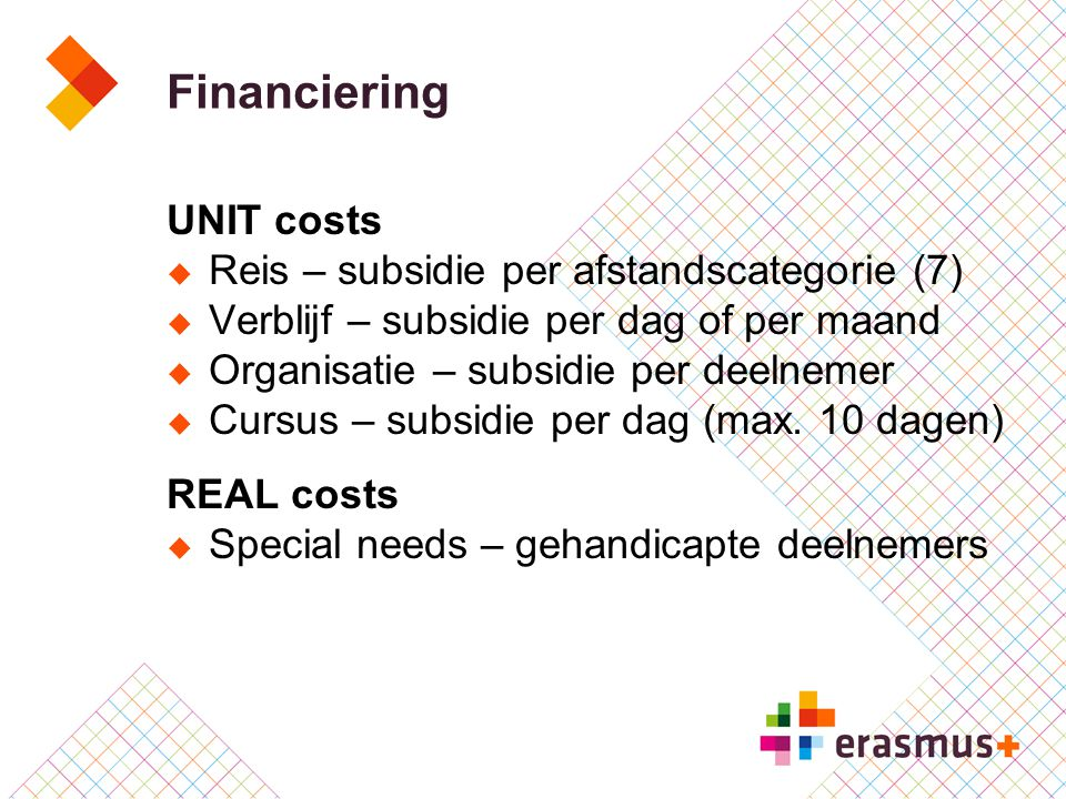 Financiering UNIT costs Reis – subsidie per afstandscategorie (7)