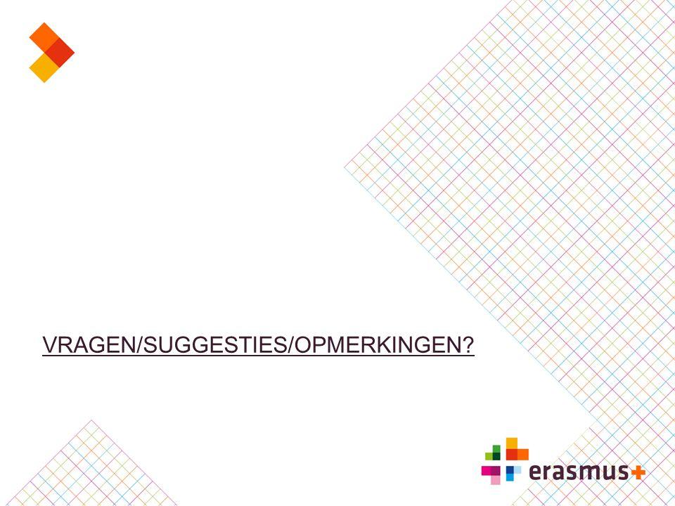 VRAGEN/SUGGESTIES/OPMERKINGEN