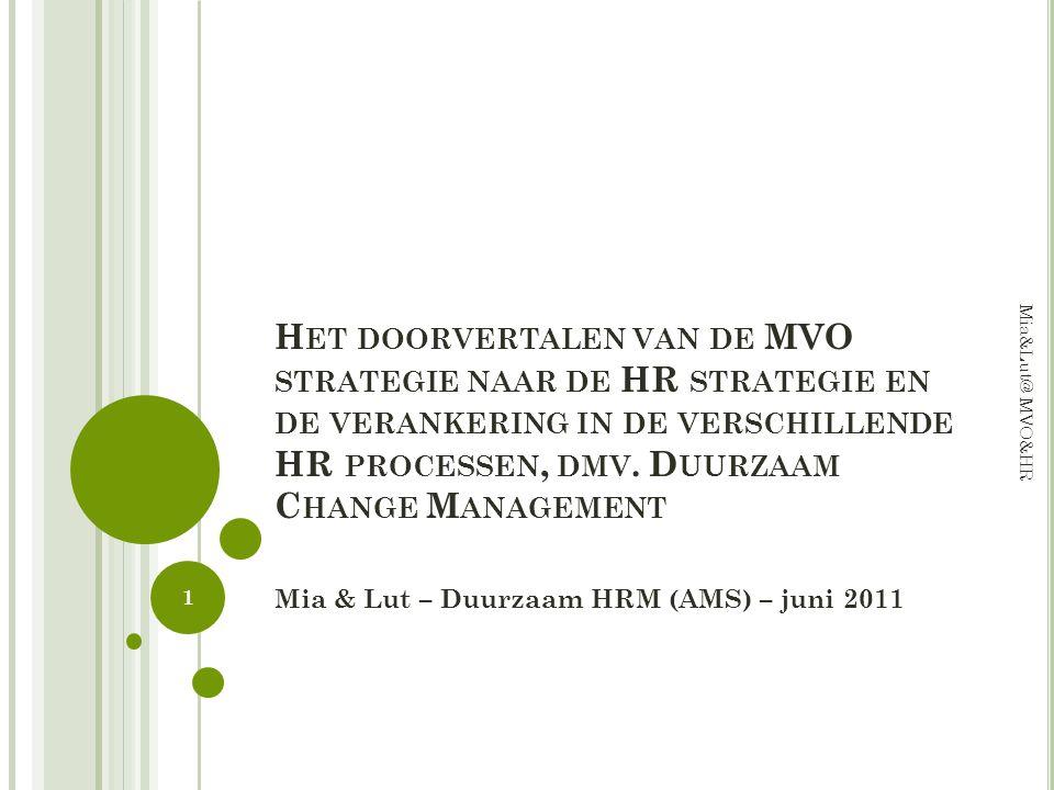 Mia & Lut – Duurzaam HRM (AMS) – juni 2011
