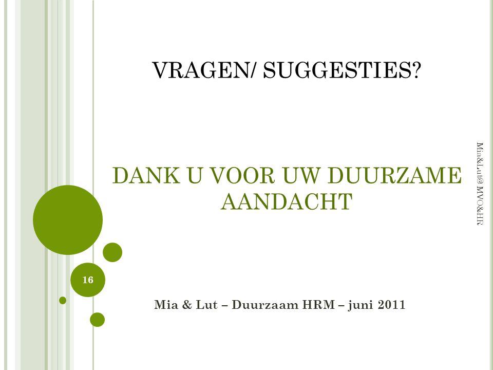 Mia & Lut – Duurzaam HRM – juni 2011
