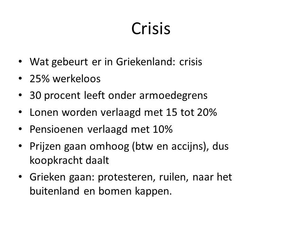 Crisis Wat gebeurt er in Griekenland: crisis 25% werkeloos