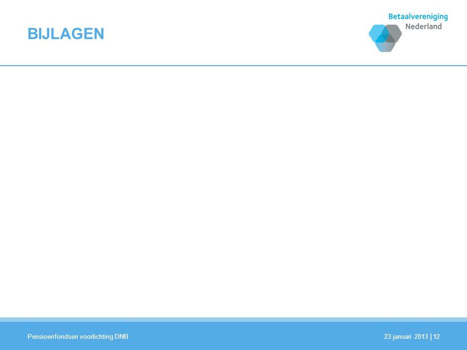 BIJLAGEN Pensioenfondsen voorlichting DNB 23 januari 2013