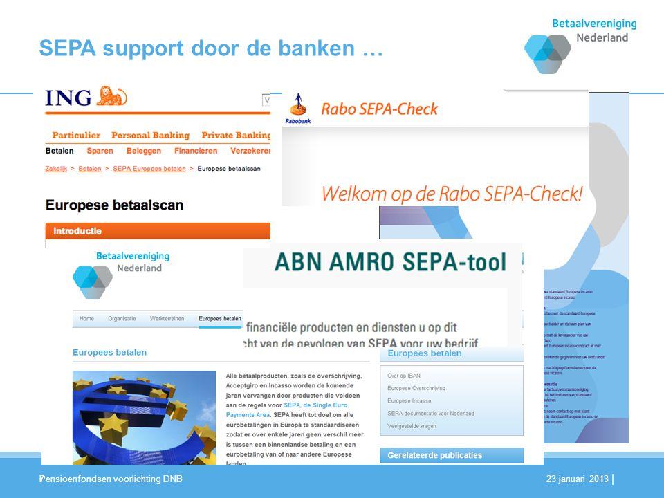 SEPA support door de banken …