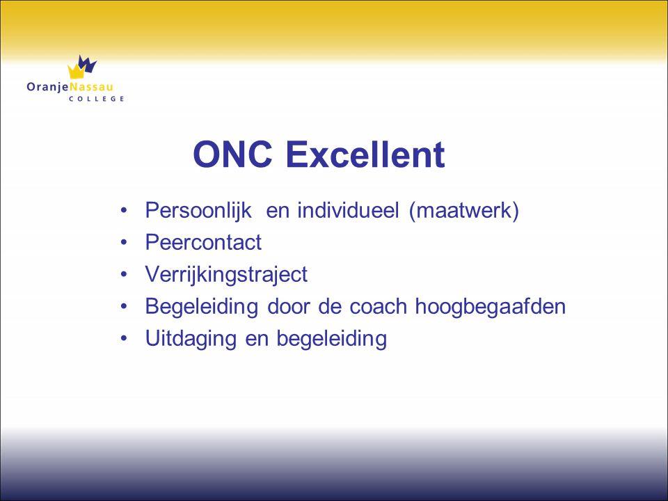 ONC Excellent Persoonlijk en individueel (maatwerk) Peercontact