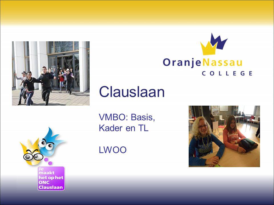 Clauslaan VMBO: Basis, Kader en TL LWOO