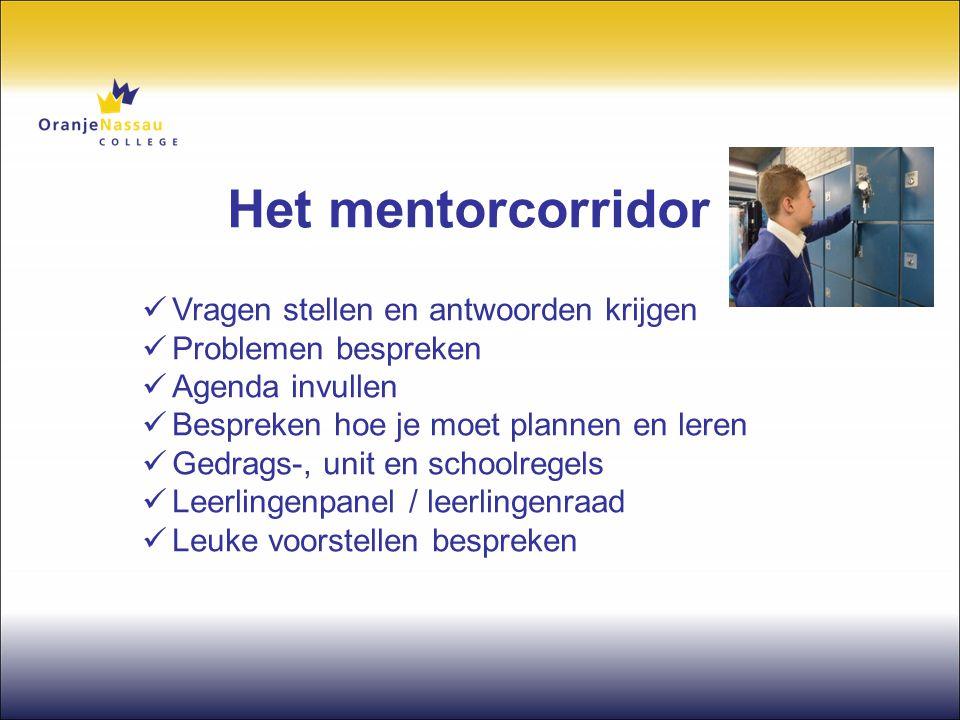 Het mentorcorridor Vragen stellen en antwoorden krijgen