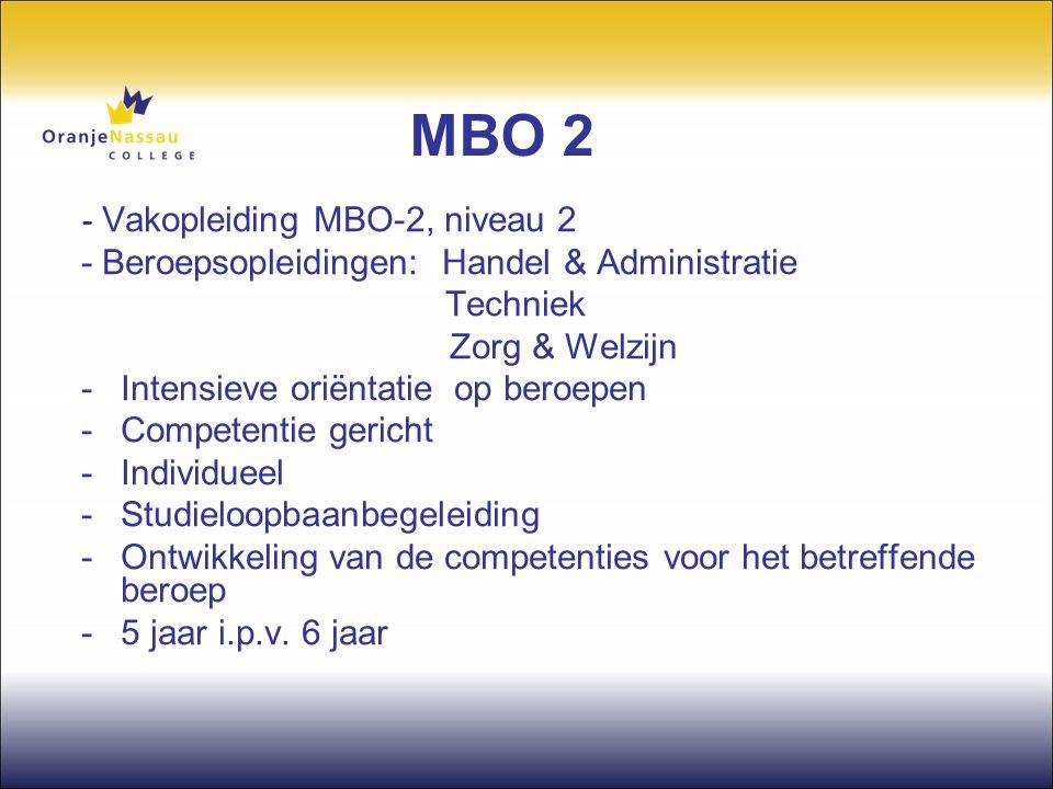 MBO 2 - Beroepsopleidingen: Handel & Administratie Techniek