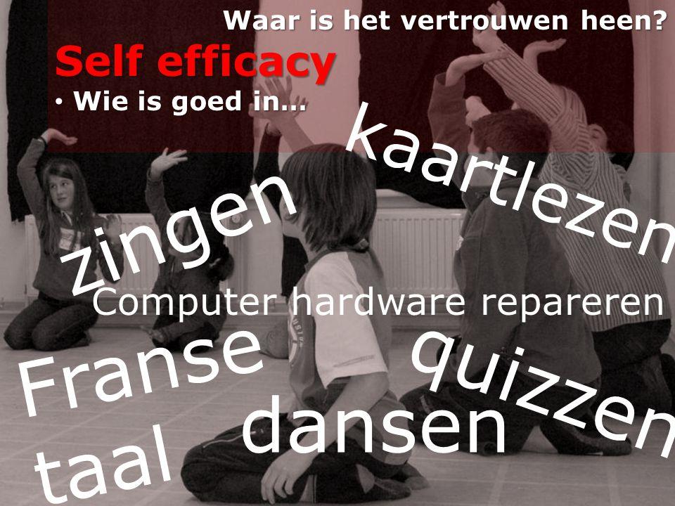 zingen Franse taal quizzen dansen kaartlezen Self efficacy