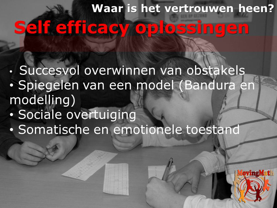 Self efficacy oplossingen