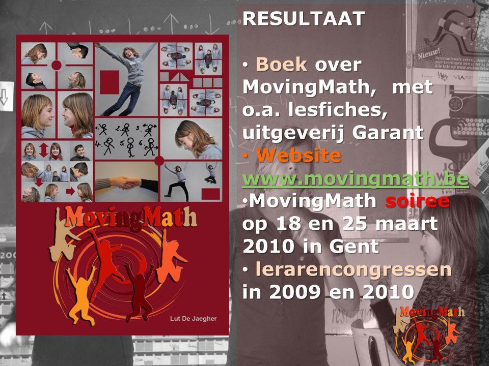 Boek over MovingMath, met o.a. lesfiches, uitgeverij Garant