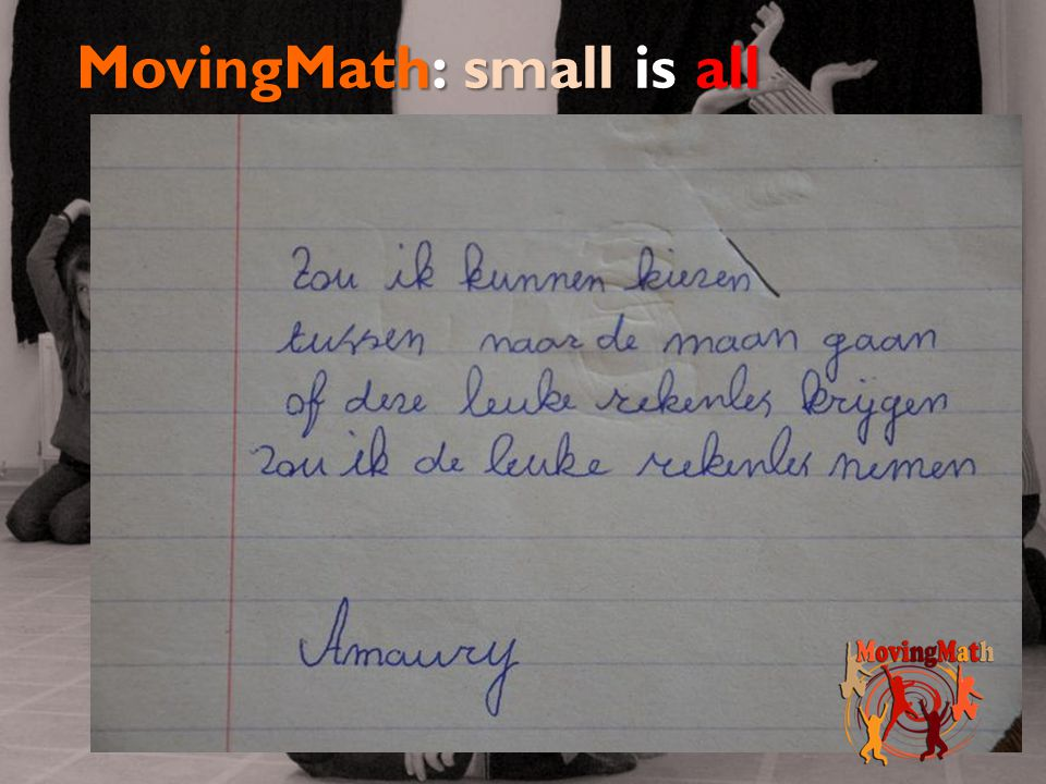MovingMath: small is all