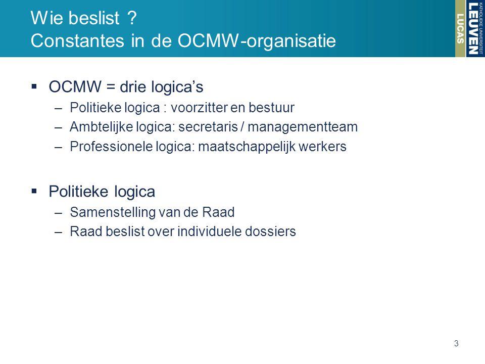 Wie beslist Constantes in de OCMW-organisatie