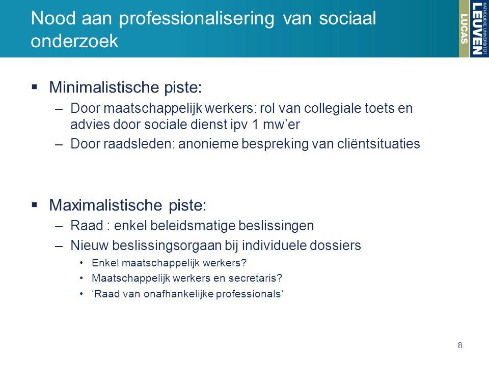 Nood aan professionalisering van sociaal onderzoek