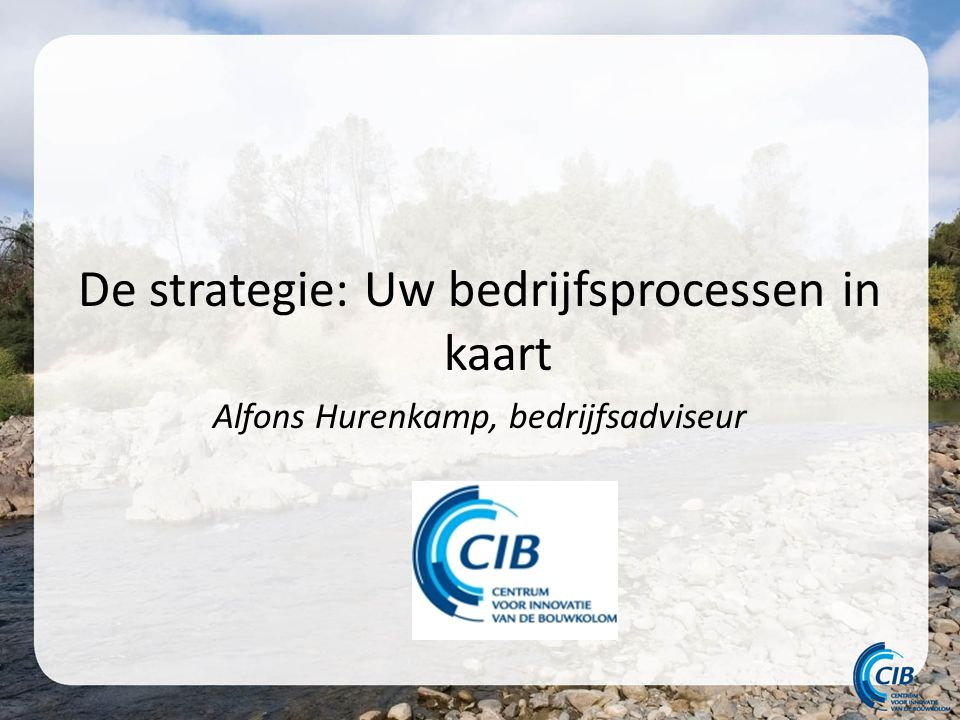 De strategie: Uw bedrijfsprocessen in kaart