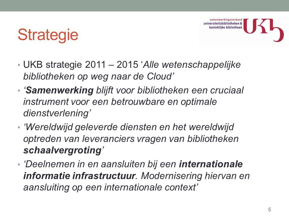Strategie UKB strategie 2011 – 2015 'Alle wetenschappelijke bibliotheken op weg naar de Cloud'