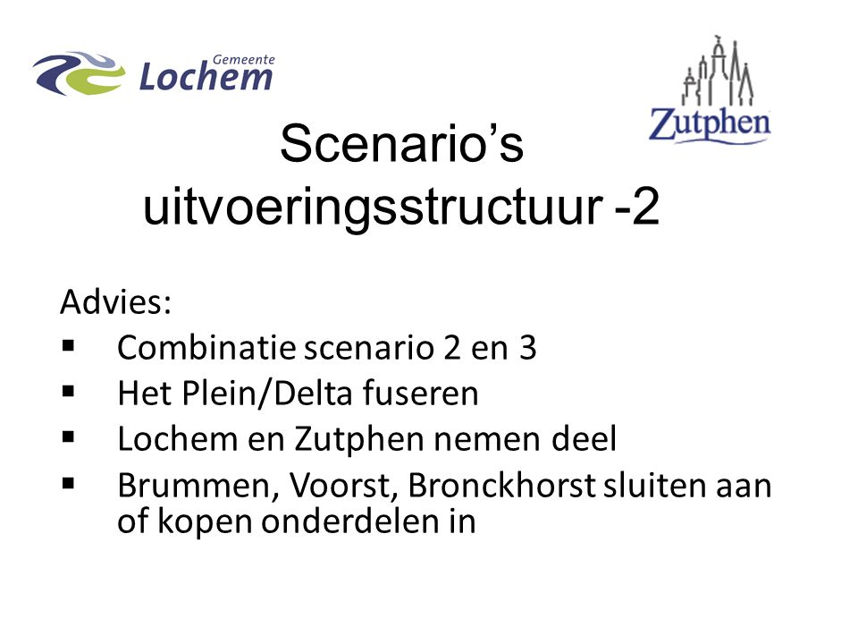 Scenario's uitvoeringsstructuur -2