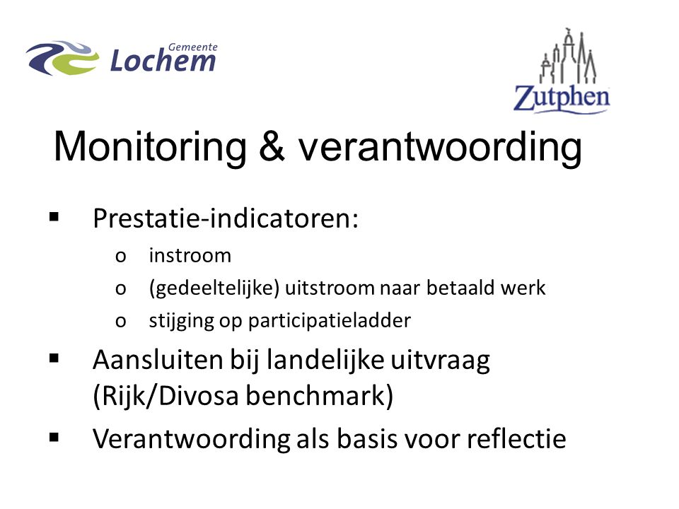 Monitoring & verantwoording