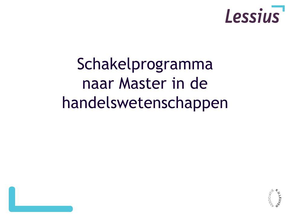Schakelprogramma naar Master in de handelswetenschappen