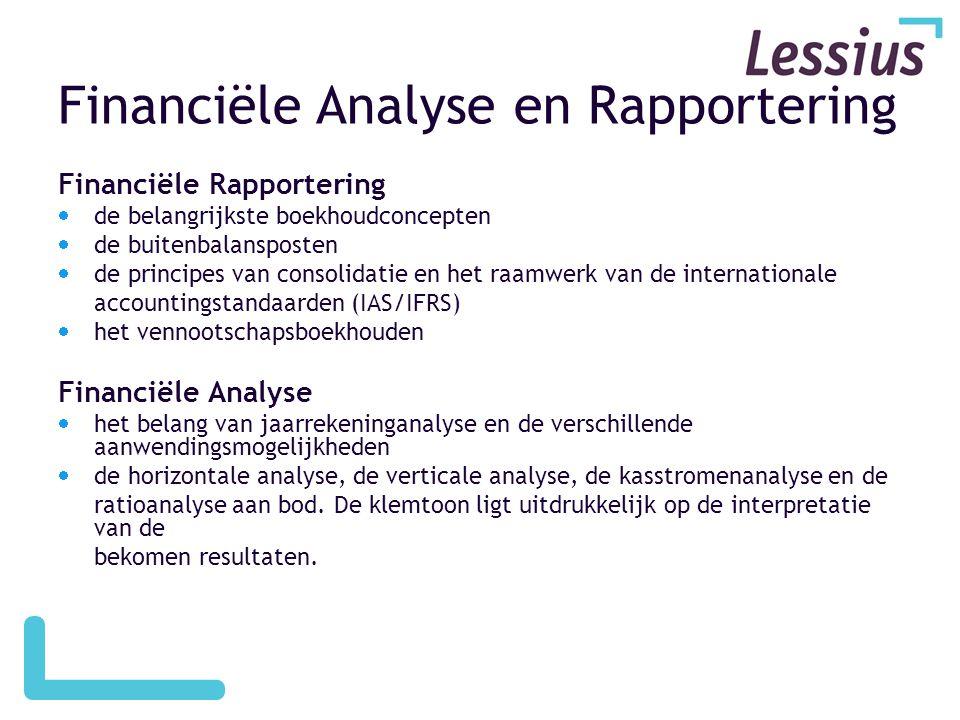 Financiële Analyse en Rapportering