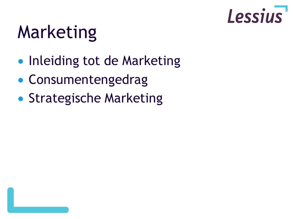 Marketing Inleiding tot de Marketing Consumentengedrag