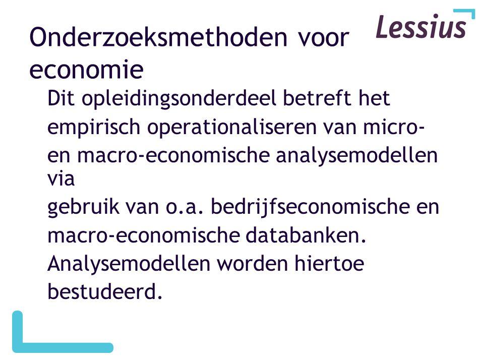 Onderzoeksmethoden voor economie