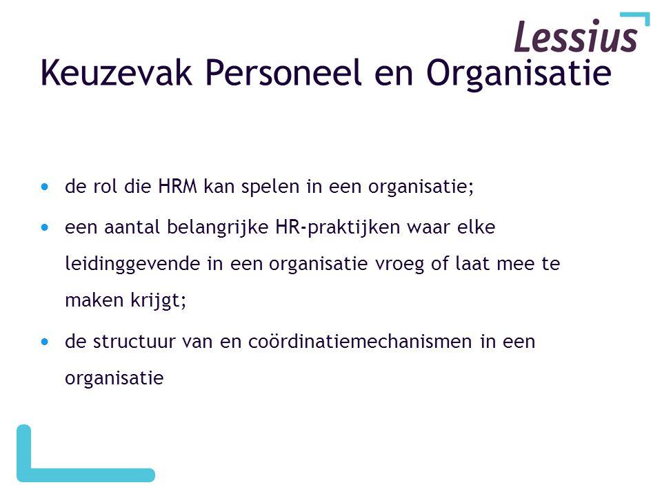 Keuzevak Personeel en Organisatie